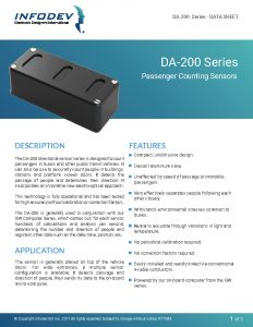 Infodev EDI Product Brief - DA-200