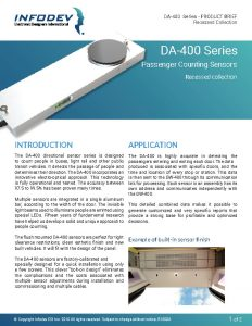 Infodev EDI Product Brief DA-400-Recess