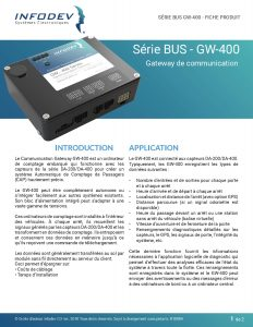 Infodev EDI Product Brief GW-400 BUS
